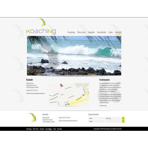 website design for koaching