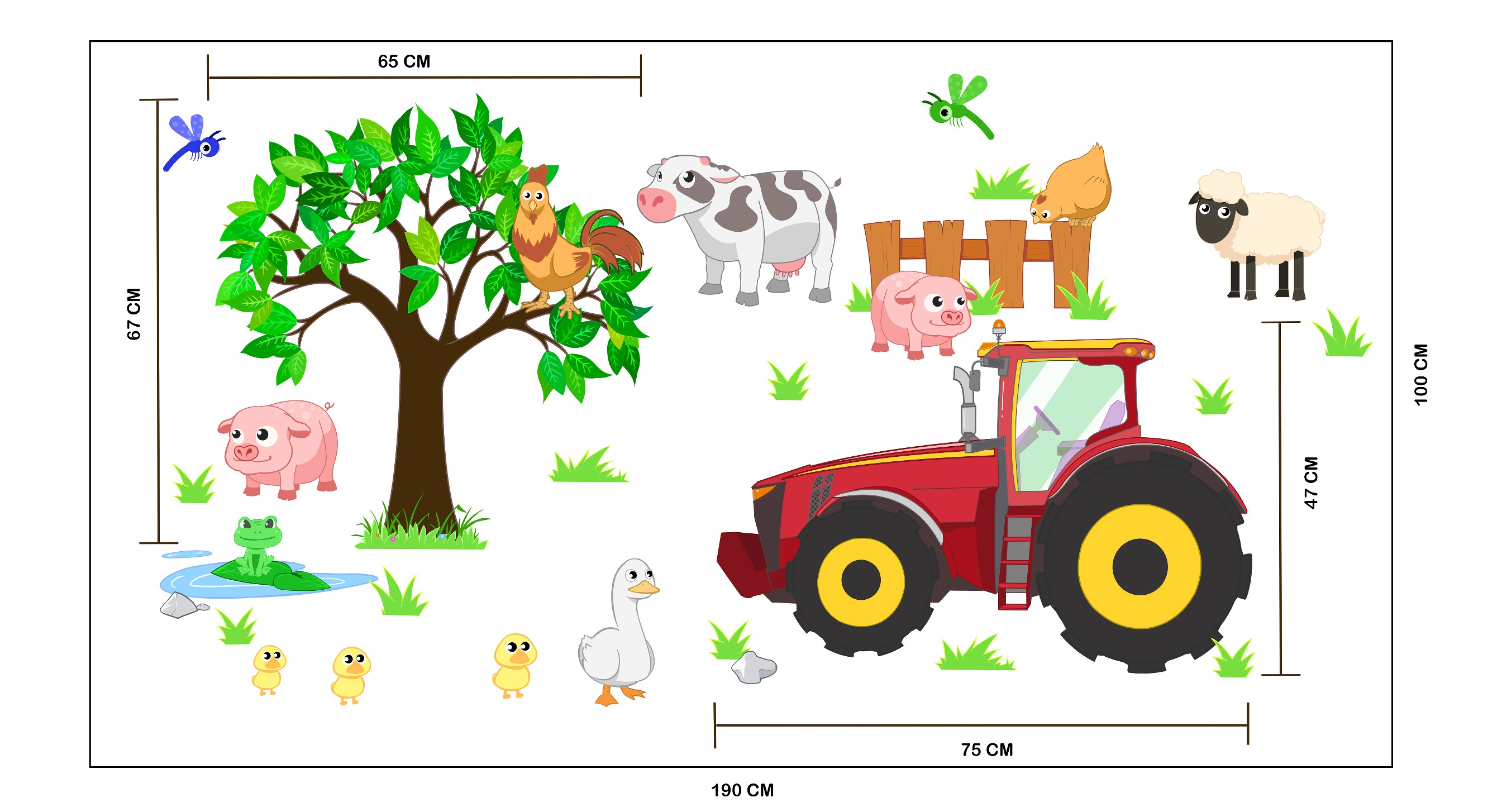 Tractor/Farm themed WALL DECAL/STICKER design:)
