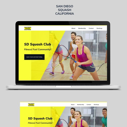 squash club webdesign