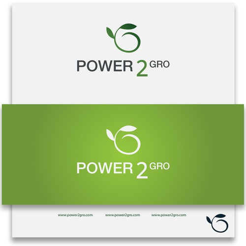 Create an innovative product logo for Power2Gro crop production system