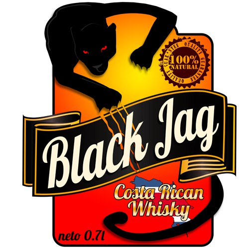 Create the next logo for Black Jag Whiskey