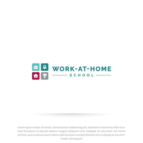 Bold Logo design for Work at Home School
