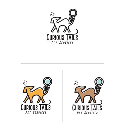 Curious Tails - (Pet Services) Logo
