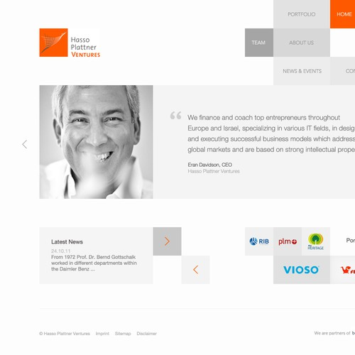 Clean & Modern webdesign wanted for Hasso Plattner Ventures
