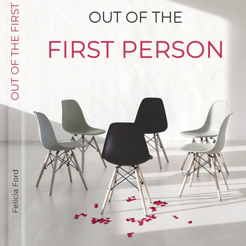 """Out of the first person"" book cover"