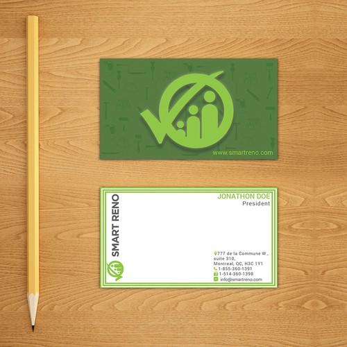 clean business card for constraction farm or Interior Design