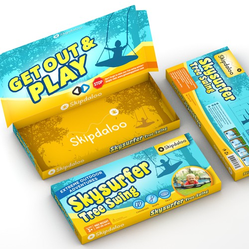 Playful package design concept for tree swing