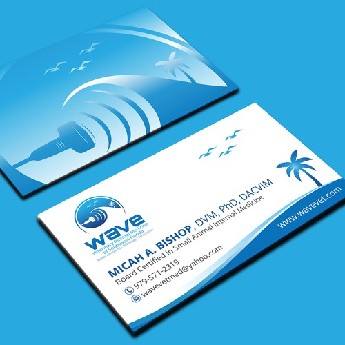 Need an awesome business card design for mobile veterinary services