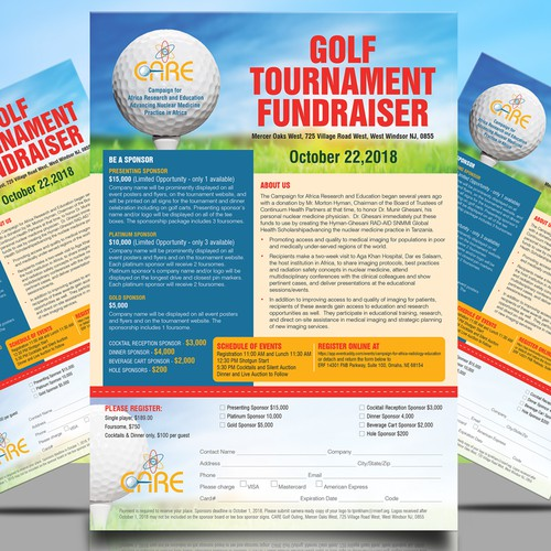 Golf Tournament Fundraiser and need an advertising brochure