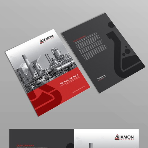 front Bi fold brochure for kixmon