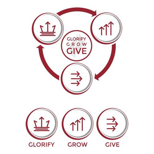 Glorify grow give logo