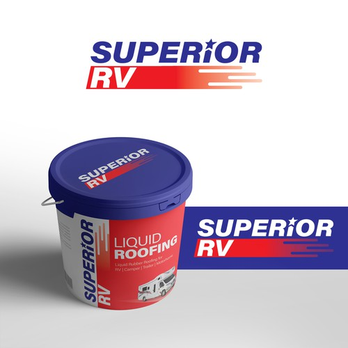 LOGO CONCEPT FOR  A SUCCESSFUL LIQUID ROOFING PRODUCT