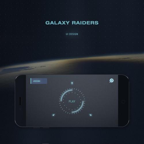 Galaxy Raiders UI