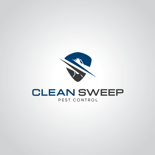 Create a fun professional logo for Clean Sweep Pest Control