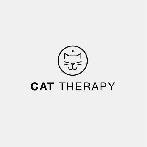Modern minimal logo design for a cat adoption store