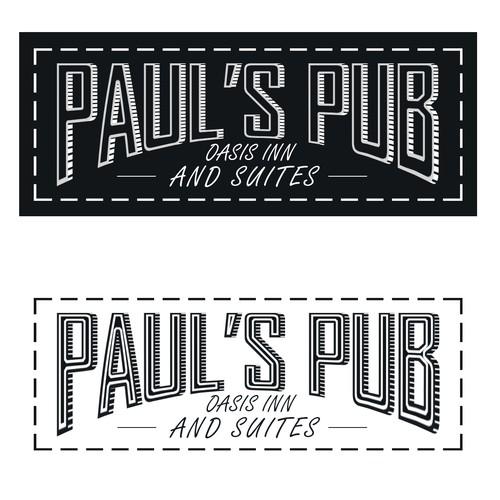Paul's Pub logo design