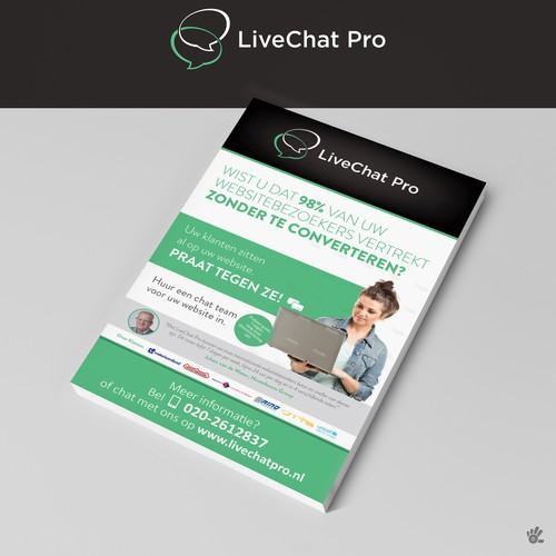 Live Chat Pro Flyer Design