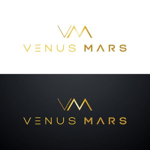Create a visually dynamic logo for Venus Mars