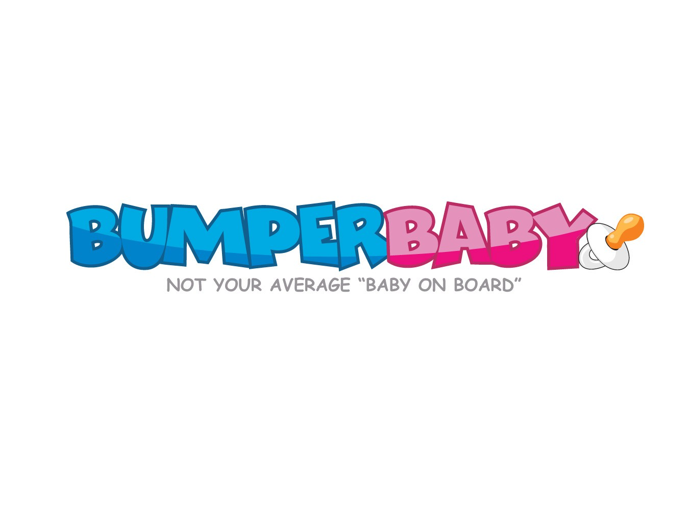 Create a unique, eye-catching, fun and modern logo for a baby sticker company, Bumper Baby