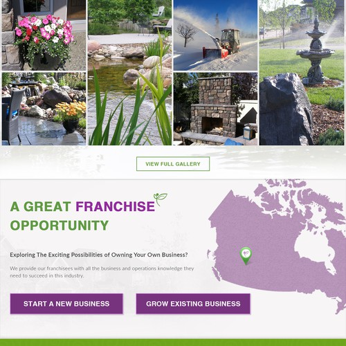 Great new website design needed for a large landscaping company