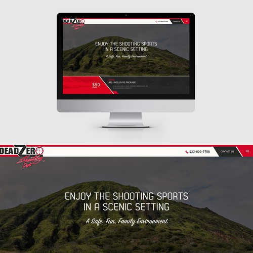 Website design for an outdoor Shooting Range
