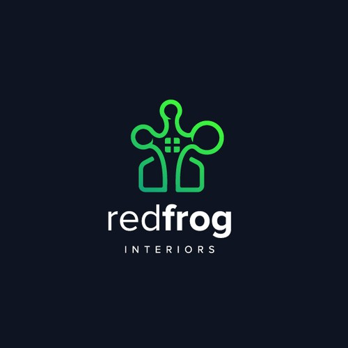 Logo design for Redfrog Interior