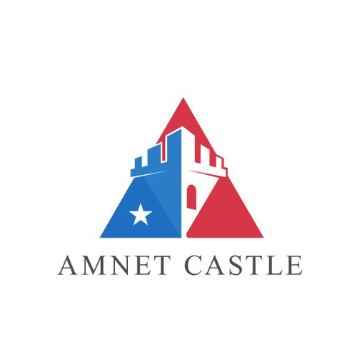 Create the next logo for Amnet Castle (can also be Castle Amnet - these two words should be switchable in terms of order as they