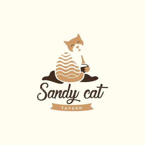 Calm and warm logo for a cafe bar