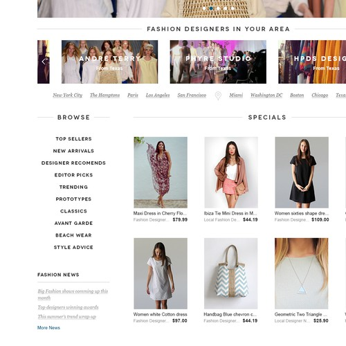 New website design wanted for www.fashionsecret.co