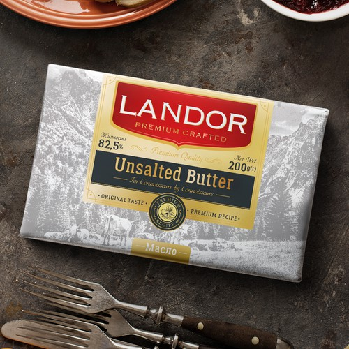 Premium butter packaging design