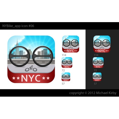 Icon for a NYC Bicyling App