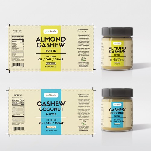 Cashew Butter Product Lable