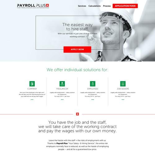 Clean website redesign for freelancers in Switzerland
