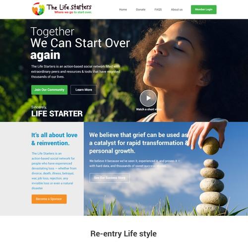 Social good web page