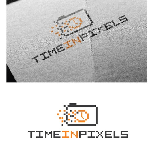 logo concept for time in pixels