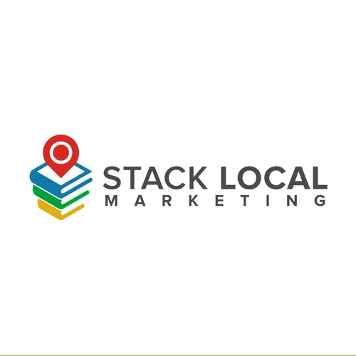 Create a clean & modern logo for a Stack Local Marketing