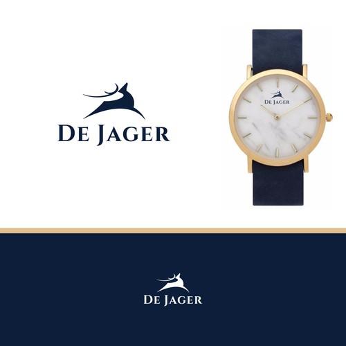 bold logo for De Jager
