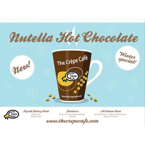Design for Crepe Cafe promotional drink