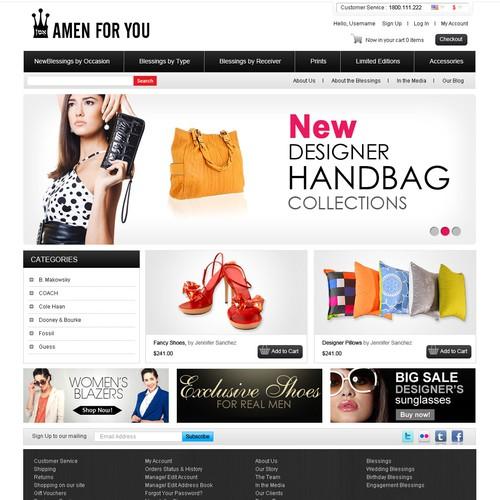 Amen For You needs a new website design