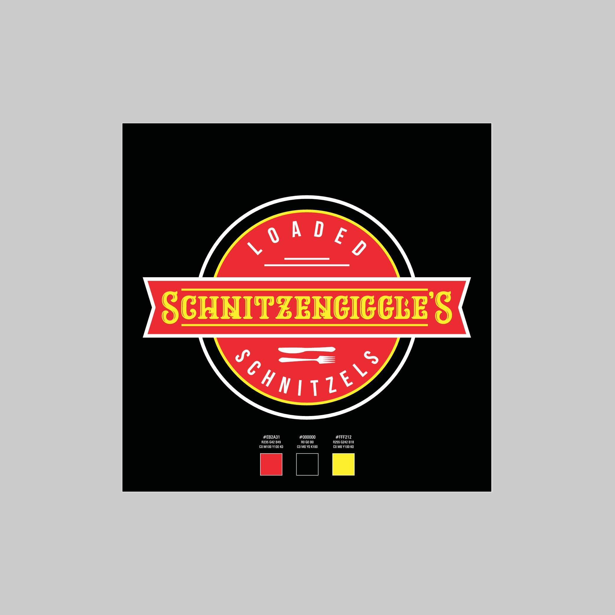 Logo for new virtual specilaity schniztel restaurant - Schnitzengiggle's