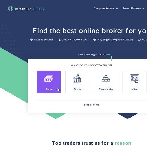Modern Homepage for Finance Comparison Site