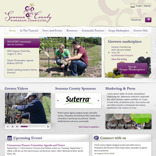 Web Re-Design for the Sonoma County Winegrape Commission