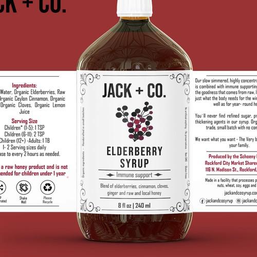 Elderberry Sirup Label