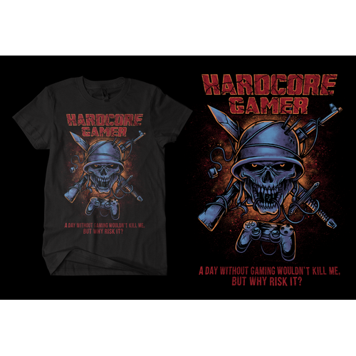 T-shirt design for gamer event