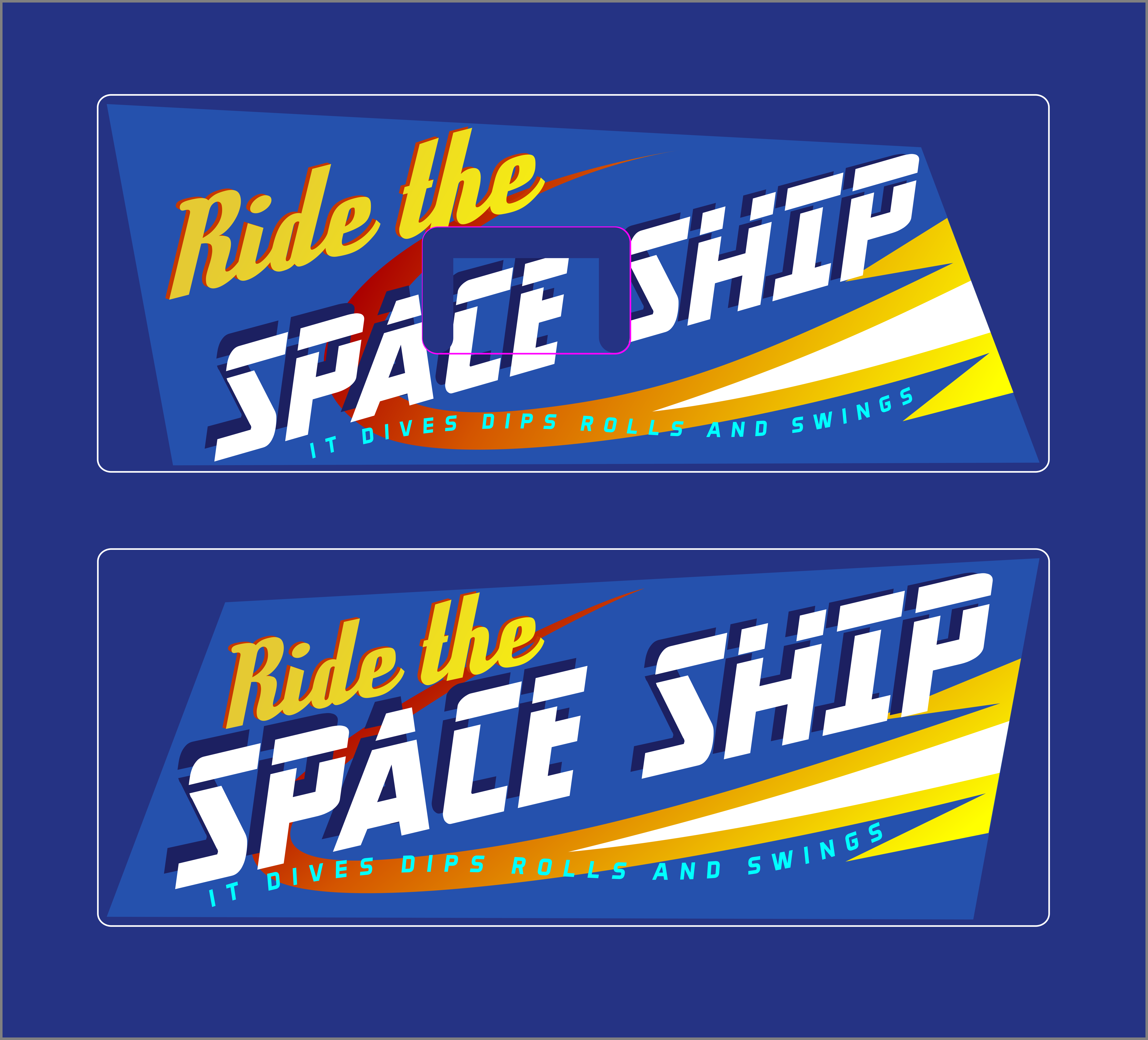 Kiddie Ride Graphics and Lettering.