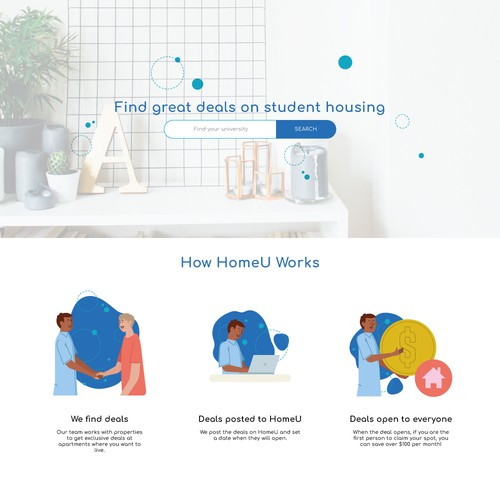 Clean design for website and apps