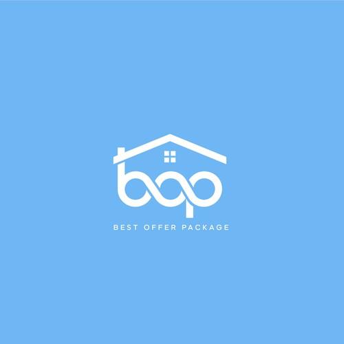 Minimal logo design for BOP