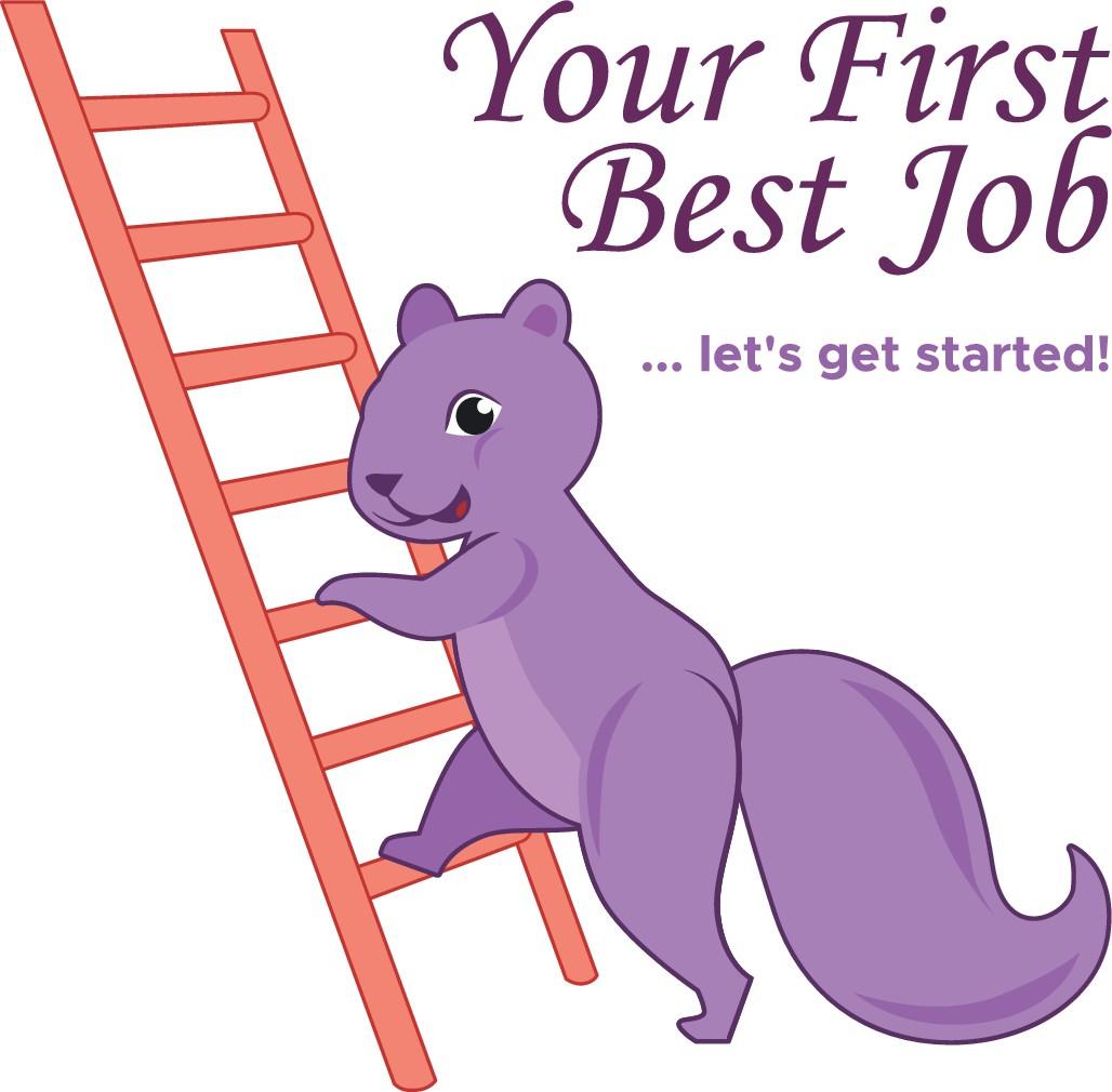 Purple Squirrel - Your First Best Job Logostravaganza