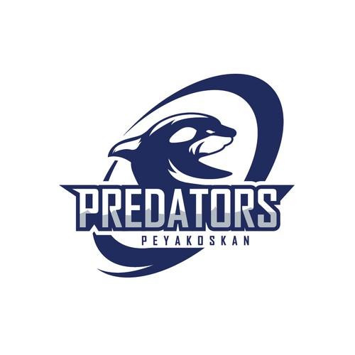 killer whale logo concept for Predators.