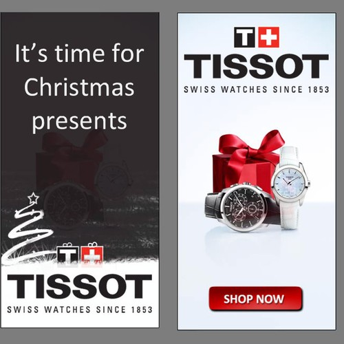 christmas banner animation for swiss watch brand - 2 formats